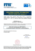 Krajowa Ocena Techniczna Instytutu Techniki Budowlanej